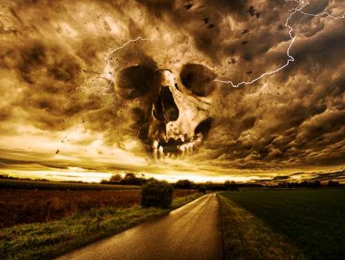 Horror Macabre Fantasy Dark Gothic Storm Skull