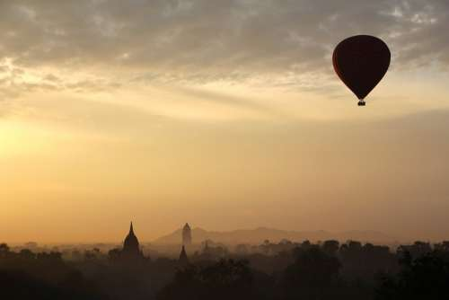 Hot Air Balloon Ride Balloon Float Bagan Myanmar