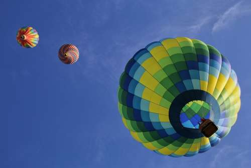 Hot Air Balloons Floating Fun Colorful Air