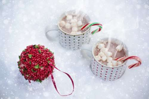 Hot Chocolate Snow Scarf Christmas Hot Drink