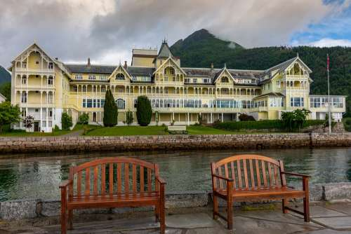 Hotel Sea Landscape Building Architecture Water