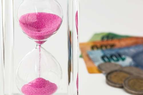 Hourglass Money Time Investment Currency Finance