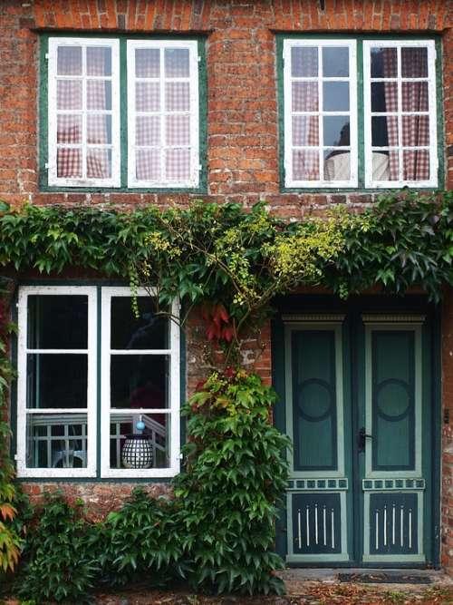 House Old Windows Door Historically Facade