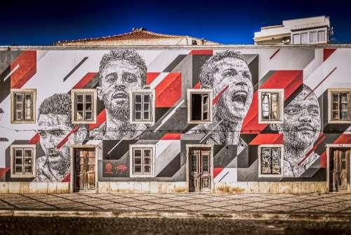 House Facade Football Portugal Team Ronaldo