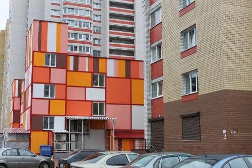 House Color Architecture Car Building Multicolor