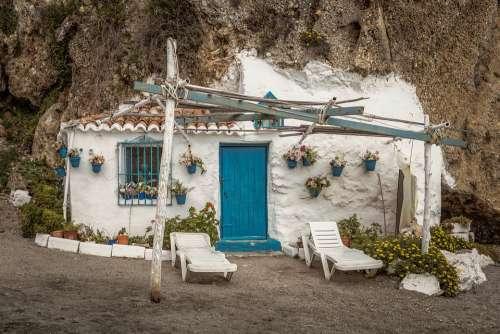 House Stone Cliff Architecture Building Romantic