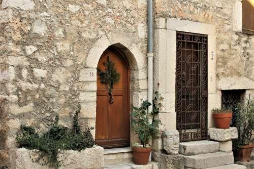 House Medieval House Door Window Pierre Wood