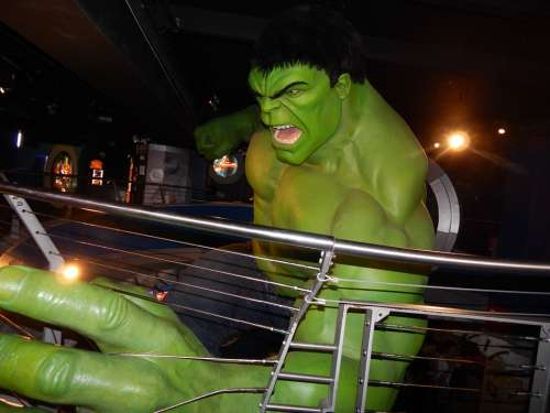 Hulk Statue Wax Museum England London