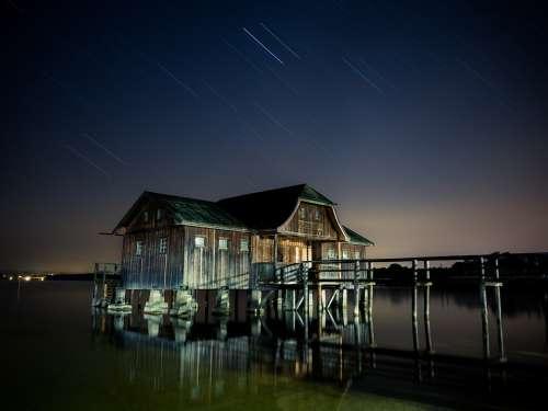 Hut Stilt Houses Star Ammersee Night House