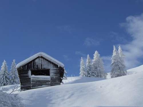 Hut Snow Winter Tyrol Serfaus-Fiss-Ladis