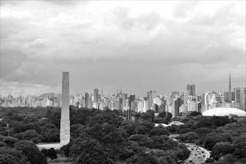 Ibirapuera Saopaulo Obelisk City Urban