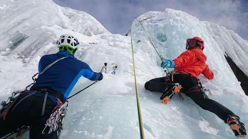 Ice Climbing Ice Climb Extreme Sports Frozen