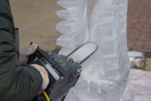 Ice Sculpting Carving Sawing Wings