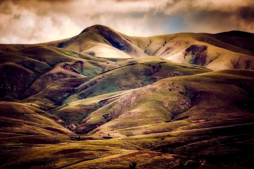 Iceland Hills Nature Outdoors Landscape Country