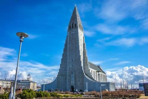 Iceland Reykjavik Hallgrímskirkja Hallgrims-Church