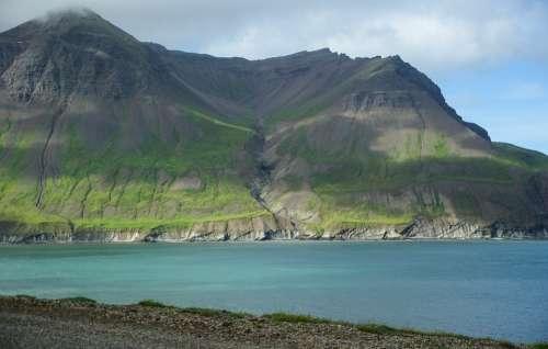 Iceland Fjord Cliffs