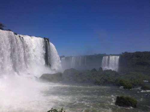 Iguazu Falls Water Paraná The Iguaçu River