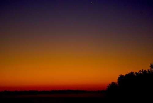 Illinois Dawn Dawn Morning Outdoor Color Scene