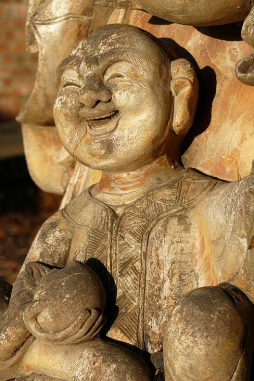 Image Statue Woodcarving Sculpture Chinese Asian