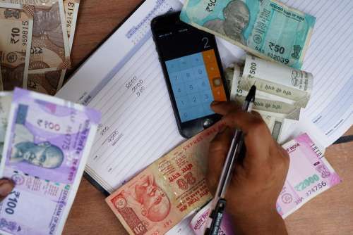 India Rupee Occupation Indian Currency Giving
