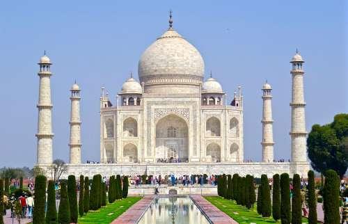 India Taj Mahal Agra Architecture Travel Landmark