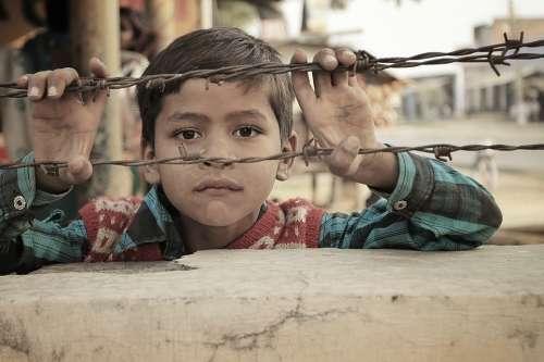 Indian Child People Kid Children Boy Poor