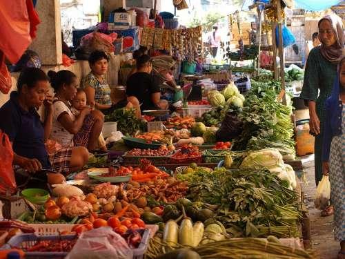 Indonesia Asia Market Street Scene
