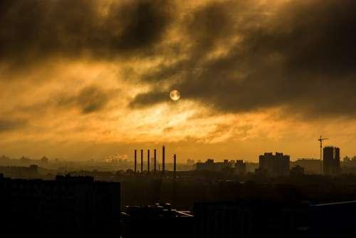 Industry Industrial Smoke Smog Manufacturing Steel
