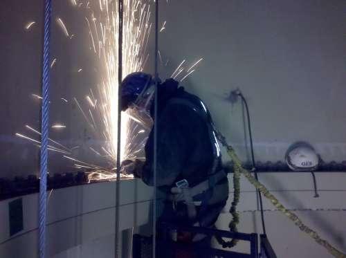 Industry Grinding Sparks Steel Industrial Worker