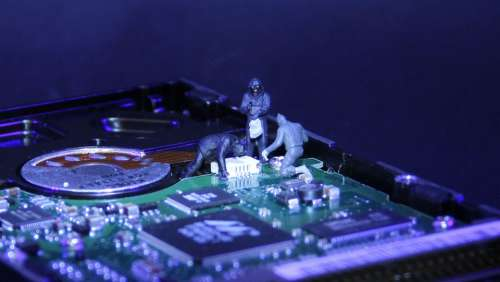 Information Technology Data Thieves Miniature Figures