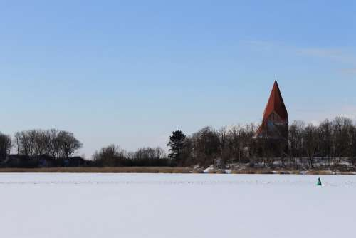 Insel Poel Baltic Sea Kirchdorf Church Steeple Sky