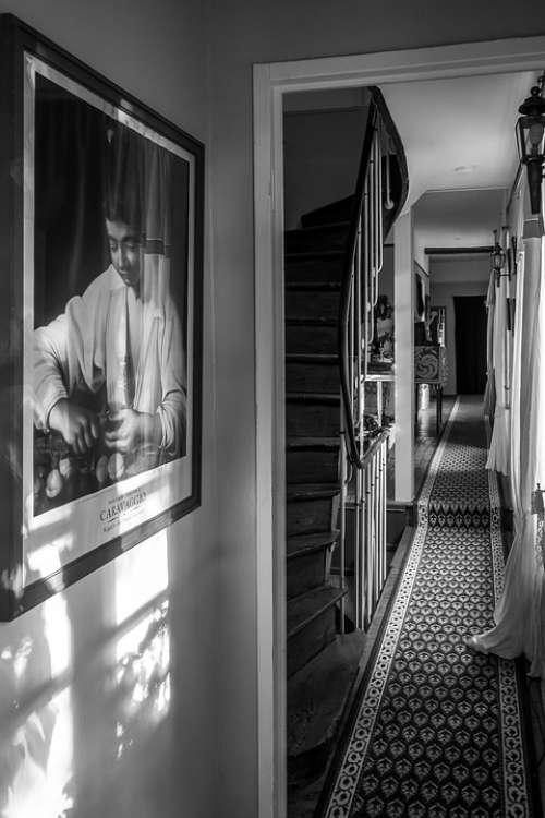 Interior Corridor Light Portrait Staircase