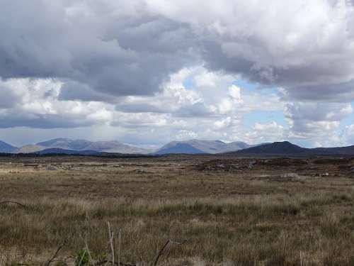 Ireland Clouds Air Landscape Nature Irish Travel
