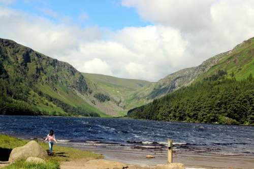 Ireland Lake Vistas Landscape Child Lucky Fun