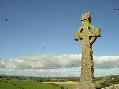 Ireland Sky Church Irish Landscape Blue Nature