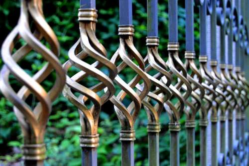 Iron Gate Wrought Iron Metal Gate Cemetery Goal