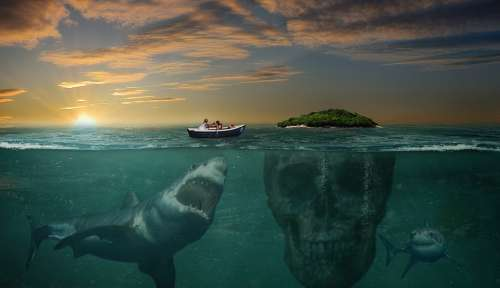 Island Hai Photomontage Photoshop Dangerous