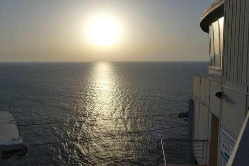 Israel Journey Sea Sun Evening Sky Countries