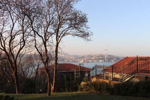 Istanbul The Bogazkopru Bosphorus Landscape Nature