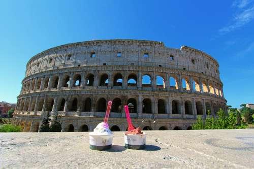 Italia Roma Rome Monument Italy Coliseum Travel