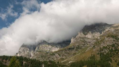 Italy Nature Clouds Mountains High Dolomites