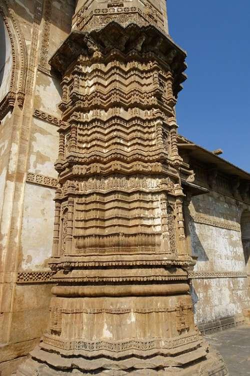 Jama Masjid Champaner-Pavagadh Pillar Carvings