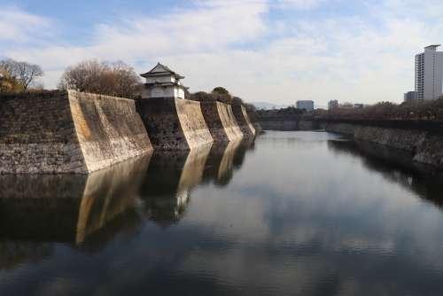 Japan Asia Osaka Kansai Osaka Castle Castle