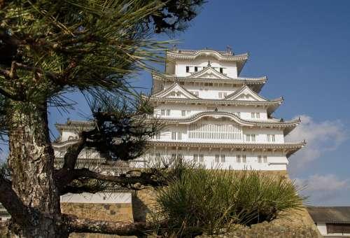 Japan Himeji Castle Wall