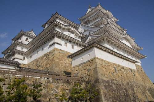 Japan Himeji Castle Wall Architecture