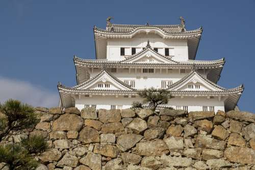 Japan Himeji Castle Wall Architecture