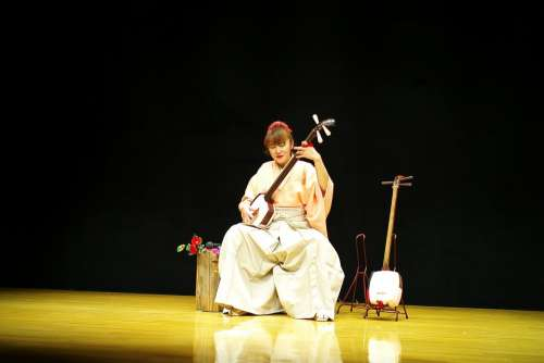 Japan Woman Music Tradition Asia Traditional