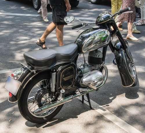 Jawa Motorcycle Oldtimer Single Cylinder Vehicle