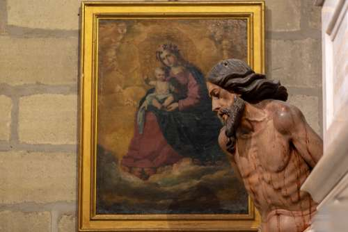 Jesus Mary Sculpture Seville Cathedral Spain