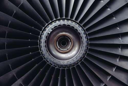 Jet Engine Jet Airplane Engine Technology Rotation